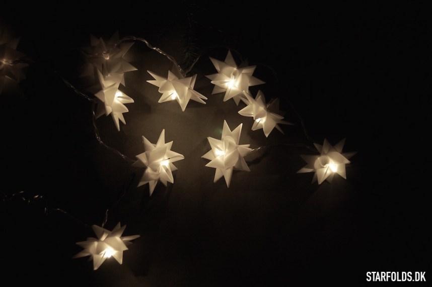 DIY flette stjerner som lysguirlande