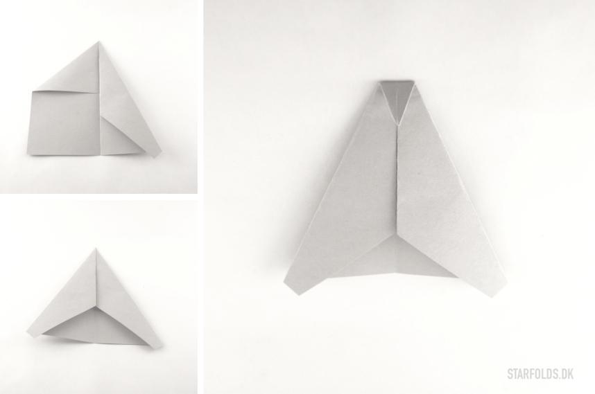 DIY papirfly trin 3