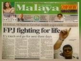 MEMORABILIA - FPJ malaya article