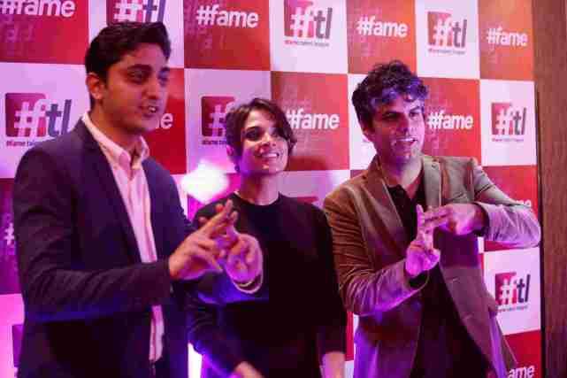 (L-R) Saket Saurabh- CEO, #fame, Richa Chadha and Puneet Johar- CEO, TTNV