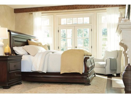 New Lou Reprise Cherry Queen Traditional Sleigh Bed