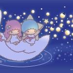 受保護的內容: Little Twin Stars Wallpaper 2016 七月桌布 日本官方Twitter票選螢火蟲版