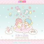 受保護的內容: Little Twin Stars Wallpaper 2011 十一月桌布 日本 SanrioBB Present
