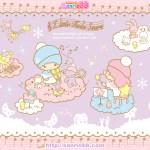 受保護的內容: Little Twin Stars Wallpaper 2011 十二月桌布 日本 SanrioBB Present