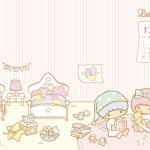 受保護的內容: Little Twin Stars Wallpaper 2013 十二月桌布 台灣官方歡迎來我家版
