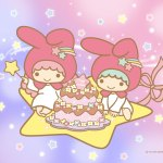 Little Twin Stars Wallpaper 2020 一月桌布 日本官方Twitter慶生版