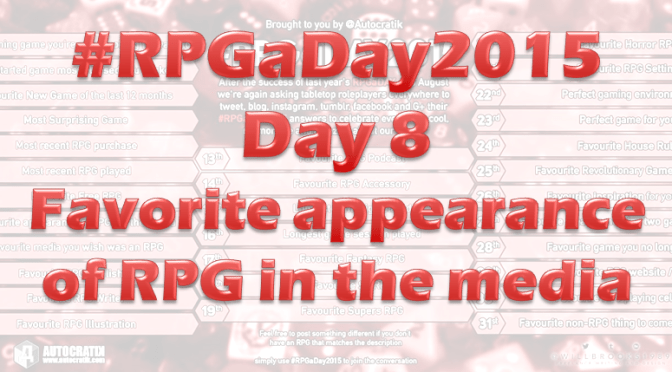 RPG a Day 2015 Challenge – Day 8