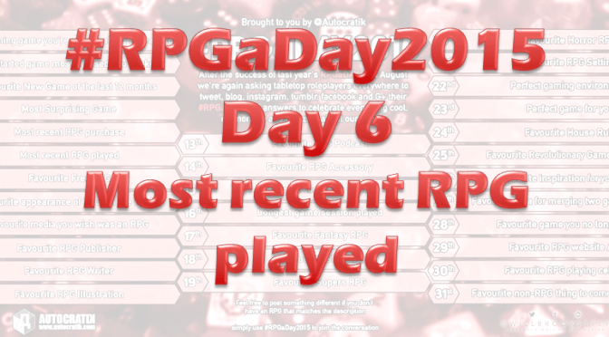RPG a Day 2015 Challenge – Day 6