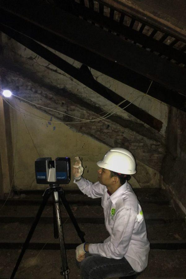 Các chuyên gia kỹ thuật của StarGlobal 3D thực hiện thu thập dữ liệu toàn bộ nhà thờ Tân Định