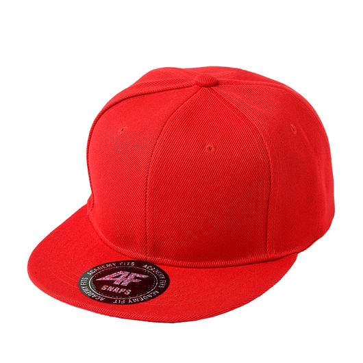 Custom Classic Snapback Flat Bill Hat (Embroidered with Logo) - Red - AF1013