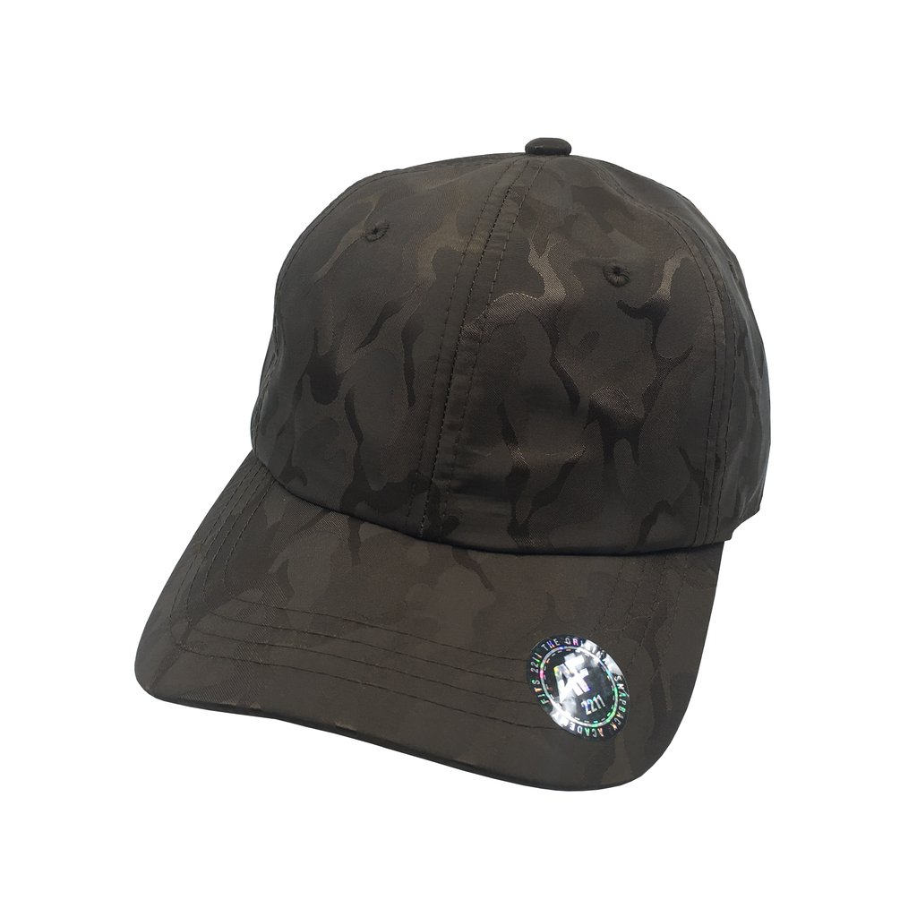 Custom Camo Tech Dad Hat (Embroidered with Logo) - Brown - AF2211