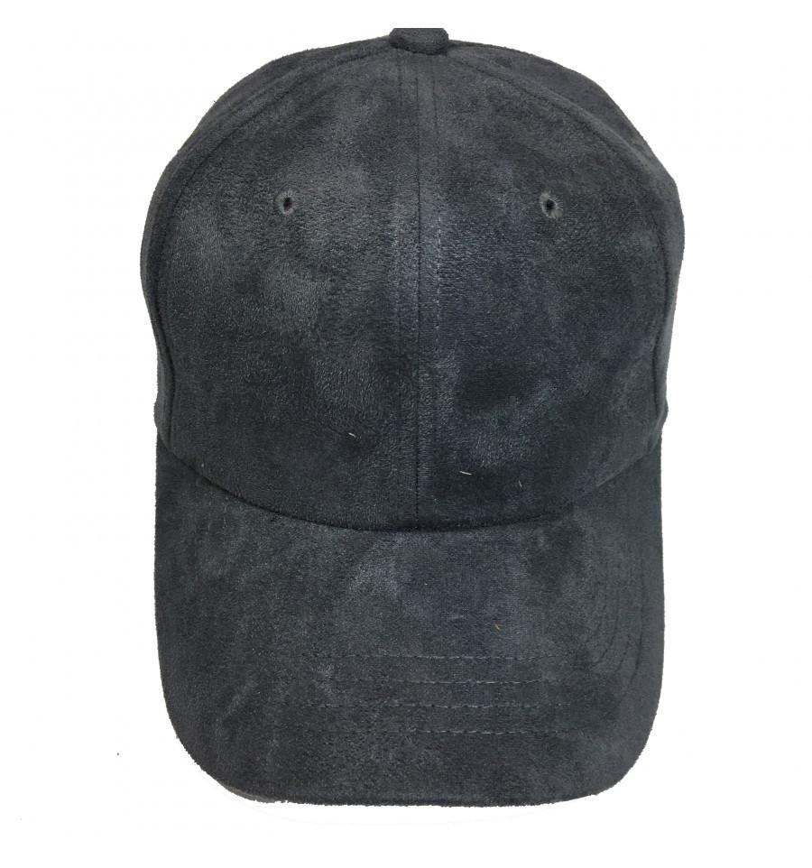 Custom Suede Dad Hat (Embroidered with Logo) - Charcoal - AF2401