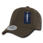 Custom Baseball Flex Hats (Embroidered with Logo) - Brown - Decky 1016W