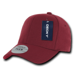 Custom Baseball Flex Hats (Embroidered with Logo) - Maroon - Decky 1016W