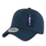 Custom Baseball Flex Hats (Embroidered with Logo) - Navy - Decky 1016W