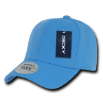 Custom Baseball Flex Hats (Embroidered with Logo) - Sky - Decky 1016W