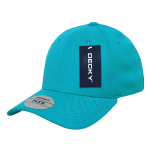 Custom Baseball Flex Hats (Embroidered with Logo) - Teal - Decky 1016W