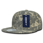 Custom Digital Camo Snapback Flat Bill Hat (Embroidered with Logo) - Universal Digital Camo - Decky 1047