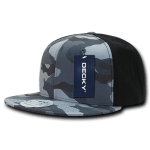 Custom Camo Snapback Flat Bill Hat (Embroidered with Logo) - Urban/Urban/Black - Decky 1049
