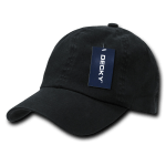 Custom Washed Polo Flex Dad Hat (Embroidered with Logo) - Black - Decky 114
