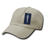 Custom Washed Polo Flex Dad Hat (Embroidered with Logo) - Stone - Decky 114