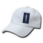 Custom Washed Polo Flex Dad Hat (Embroidered with Logo) - White - Decky 114