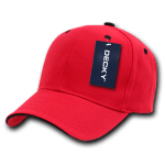 Custom Sandwich Bill Baseball Hat (Embroidered with Logo) - Red/Black - Decky 2003