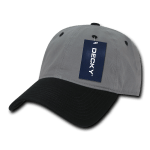 Custom Relaxed Classic Dad Hat (Embroidered with Logo) - Grey/Black - Decky 205