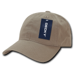 Custom Relaxed Classic Dad Hat (Embroidered with Logo) - Khaki - Decky 205
