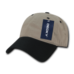 Custom Relaxed Classic Dad Hat (Embroidered with Logo) - Khaki/Black - Decky 205