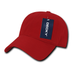 Custom Relaxed Classic Dad Hat (Embroidered with Logo) - Red - Decky 205