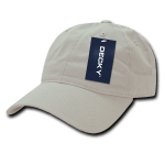 Custom Relaxed Classic Dad Hat (Embroidered with Logo) - Stone - Decky 205
