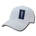 Custom Relaxed Classic Dad Hat (Embroidered with Logo) - White - Decky 205