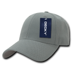 Custom Low Crown Structured Baseball Hat (Embroidered with Logo) - Grey - Decky 206
