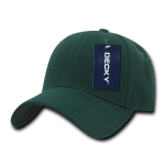 Custom Low Crown Structured Baseball Hat (Embroidered with Logo) - Hunter - Decky 206