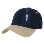 Custom Low Crown Structured Baseball Hat (Embroidered with Logo) - Navy/V. Gold - Decky 206