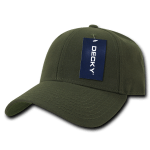 Custom Low Crown Structured Baseball Hat (Embroidered with Logo) - Olive - Decky 206