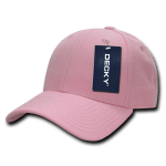 Custom Low Crown Structured Baseball Hat (Embroidered with Logo) - Pink - Decky 206