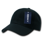 Custom Curve Bill Deluxe Baseball Hat (Embroidered with Logo) - Black - Decky 207