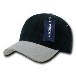 Custom Curve Bill Deluxe Baseball Hat (Embroidered with Logo) - Black/Grey - Decky 207
