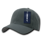 Custom Curve Bill Deluxe Baseball Hat (Embroidered with Logo) - Charcoal - Decky 207