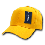 Custom Curve Bill Deluxe Baseball Hat (Embroidered with Logo) - Gold - Decky 207