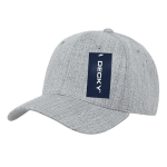 Custom Curve Bill Deluxe Baseball Hat (Embroidered with Logo) - Heather Grey - Decky 207