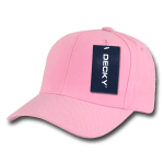 Custom Curve Bill Deluxe Baseball Hat (Embroidered with Logo) - Pink - Decky 207