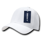 Custom Curve Bill Deluxe Baseball Hat (Embroidered with Logo) - White - Decky 207