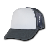 Custom Two-Tone Trucker Foam Mesh Hat (Embroidered with Logo) - Charcoal - Decky 210