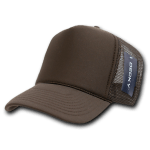 Custom Solid Color Trucker Mesh Foam Hat (Embroidered with Logo) - Brown - Decky 211