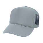 Custom Solid Color Trucker Mesh Foam Hat (Embroidered with Logo) - Grey - Decky 211