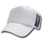Custom Solid Color Trucker Mesh Foam Hat (Embroidered with Logo) - White - Decky 211