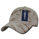 Custom Cotton Camo Baseball Hat (Embroidered with Logo) - Desert Camo - Decky 216